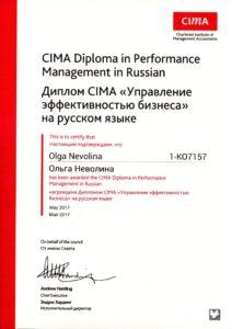 CIMA Ольга Неволина